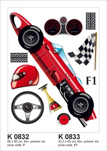 Sticker decorativ K0833 Formula 1