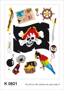 Sticker decorativ K0821 Pirati
